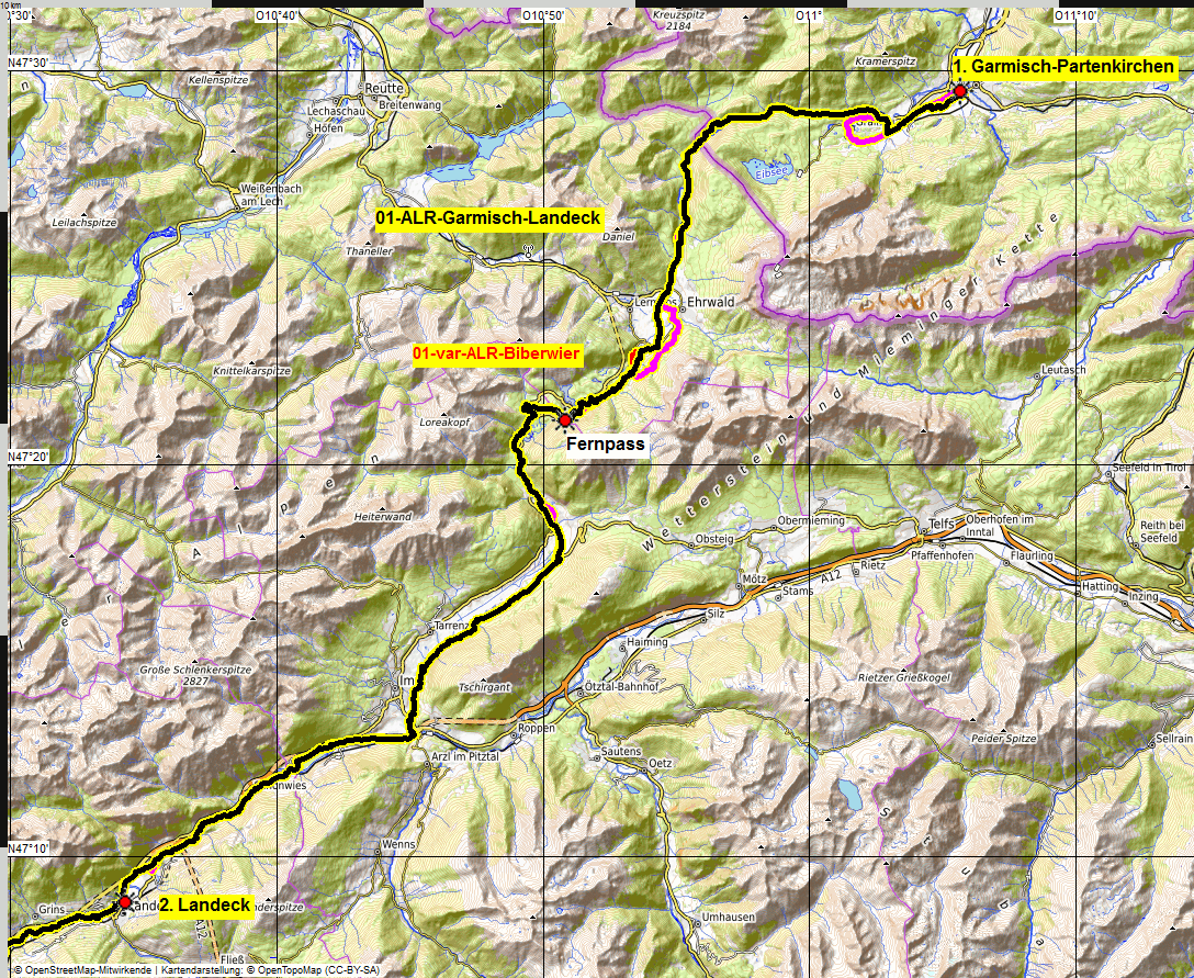 01 map albrecht route