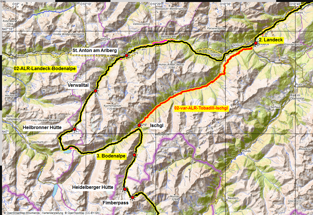 02 map albrecht route