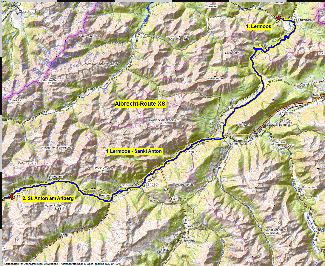 01 map albrecht route XS