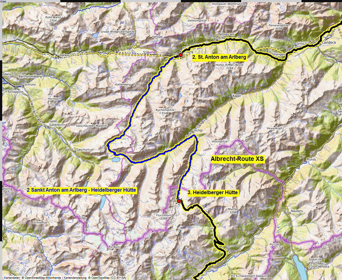 02 map albrecht route XS