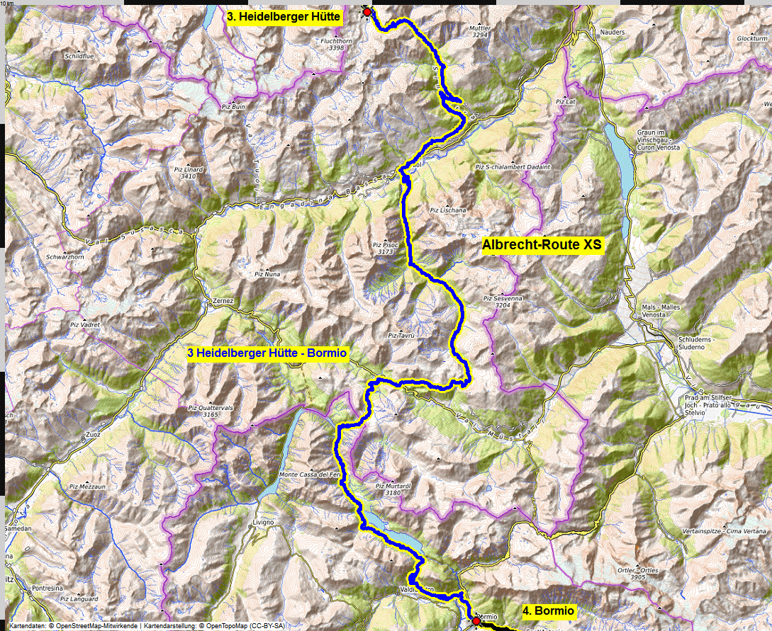 03 map albrecht route XS