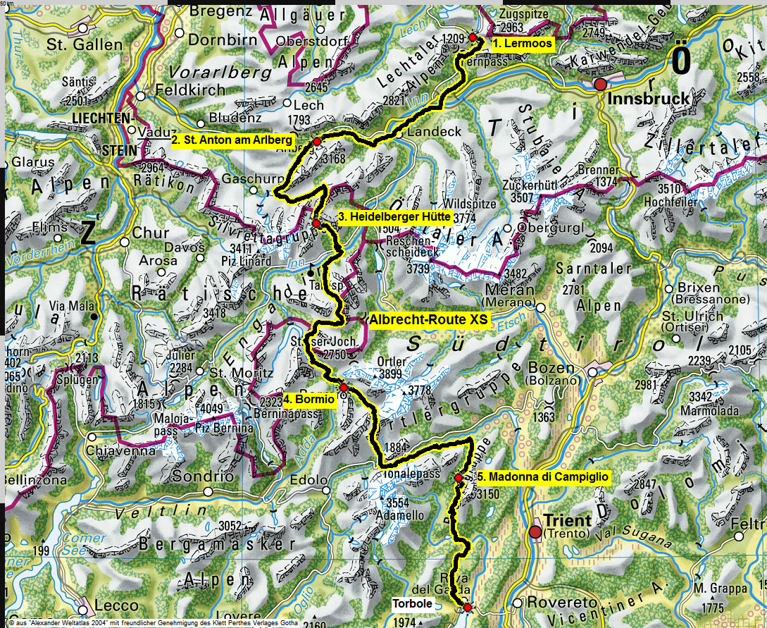 map albrecht route XS perthes